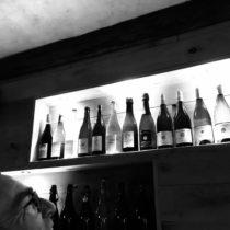 alognement de bouteilles